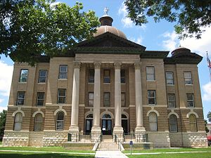 English: Hays County Courthouse at San Marcos,...