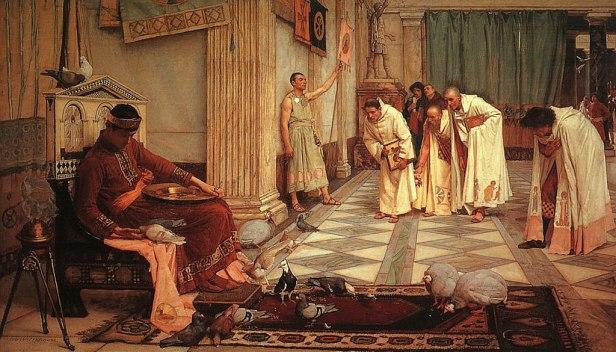 John William Waterhouse - The Favorites of the Emperor Honorius - 1883