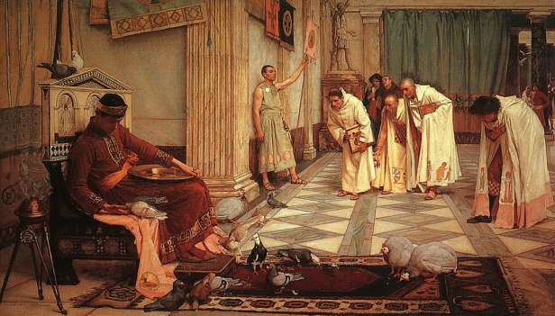 John William Waterhouse - The Favorites of the Emperor Honorius - 1883