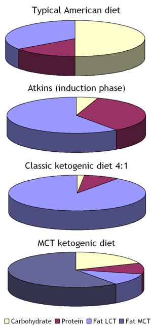 Ketogenic diets pie