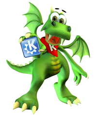 Konqi, mascot of the KDE project