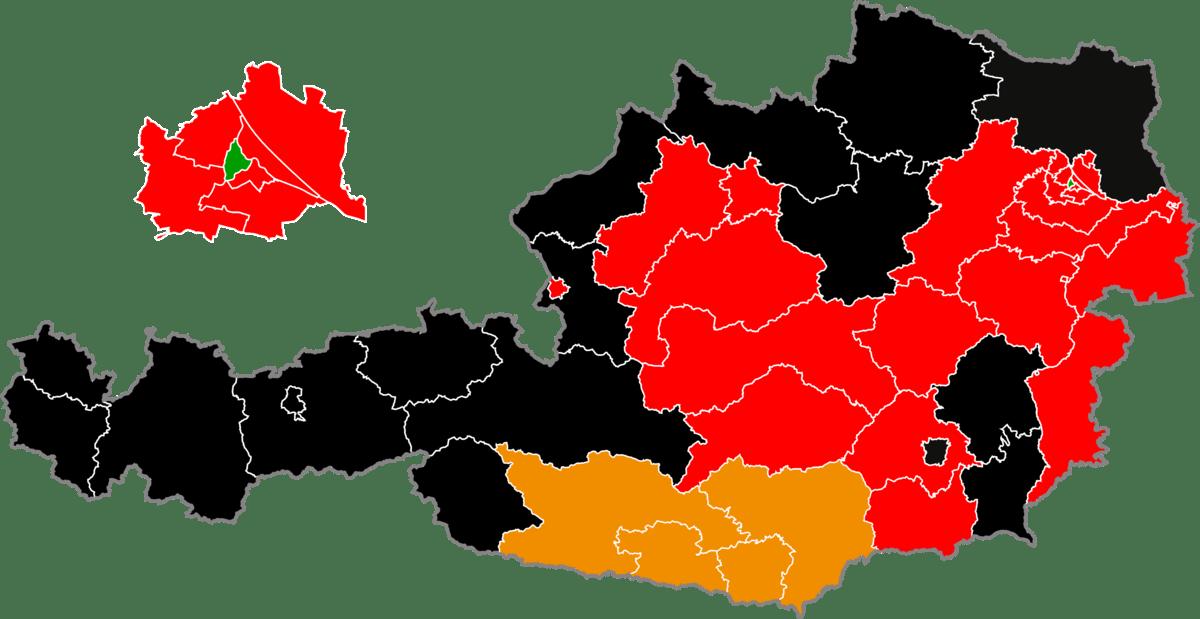 Nationalratswahl 2008 (Staerkste Partei im Regionalwahlkreis).png