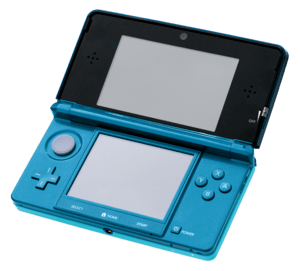 English: A Nintendo 3DS in Aqua Blue, photo ta...