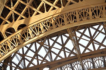 Structural detail of the Eiffel Tower