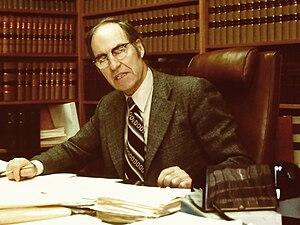 Robert A. Walker Q.C. (1916-1989) taken in 198...