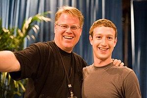 Robert Scoble (left) and w:Mark Zuckerberg (ri...