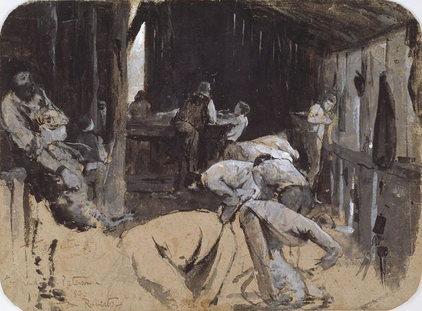 """""""Shearing the Rams"""" by Tom Roberts"""