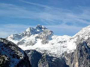 Triglav, the higest mountain in Slovenia. View...