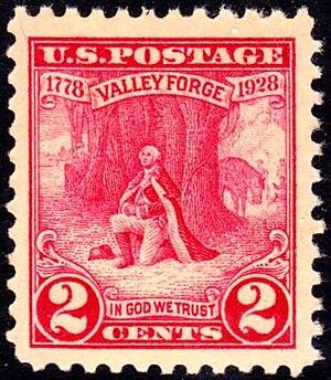 English: US Postage stamp, 1928 issue, Washing...