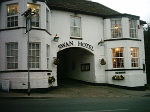 The White Swan public house at Aberford, West Yorksire