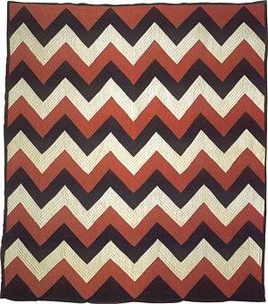 English: Kulipuʻu, quilt from Kauai, late 19th...