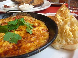 Baked Moroccan Omelette with Haloumi, Tomatoes...