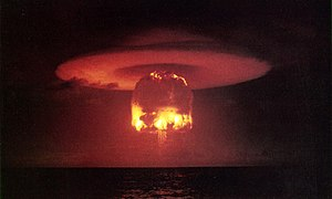 Nuclear weapon test Romeo (yield 11 Mt) on Bik...