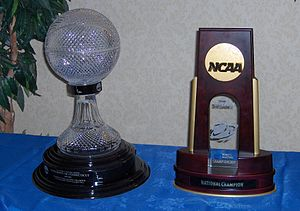 English: Championship Trophies won by UConn fo...