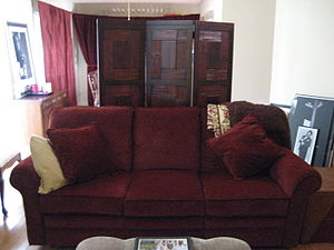 Couch and Folding screen