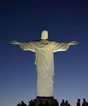 English: Statue of Christ the Redeemer, Rio de...