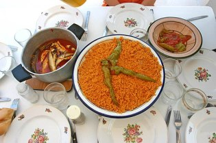 Fish couscous from Kerkenah, Tunisia, August 16th, 2007
