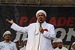 """Habib Rizieq Syihab, der """"Groß-Imam"""" der FPI, bei einer Predigt im Januar 2017."""