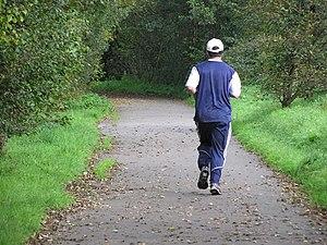 English: Jogging at Cranny Good for your healt...