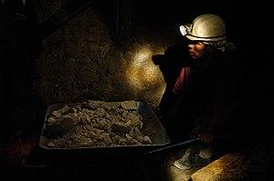 """Miner in a mine of the """"Cerro Rico"""" ..."""