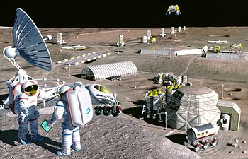 NASA's proposed Moon colony concept from early...