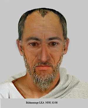 Facial composite of Saint Paul (* 7-10; † 64-6...