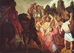 The stoning of Saint Stephen provides an examp...