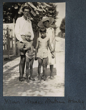 The Huxley family, by Lady Ottoline Morrell (d...