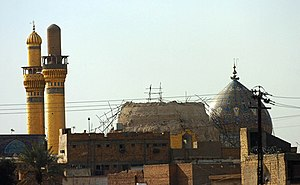 This photo shows the Al-Askari Mosque after th...