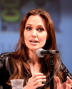 Angelina Jolie at the 2010 Comic Con in San Diego (Photo credit: Wikipedia)