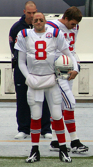 English: Brian Hoyer, a player on the New Engl...