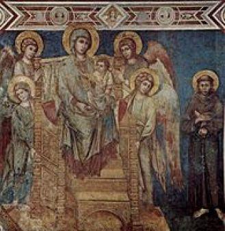Maestà της Ασσίζης, νωπογραφία, 1288, Ασσίζη, Κάτω Βασιλική του Αγίου Φραγκίσκου