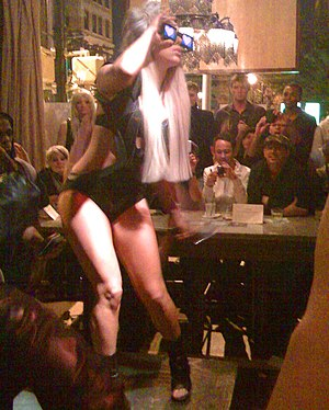 "English: Lady Gaga performing at ""the Baz..."