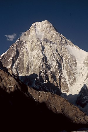 West face of Gasherbrum IV in Karakoram mounta...