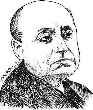 Sketch of Gottfried Benn