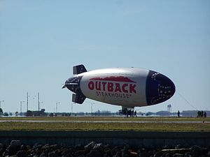 """""""Outback"""" blimp at Peter O. Knight Airport in ..."""