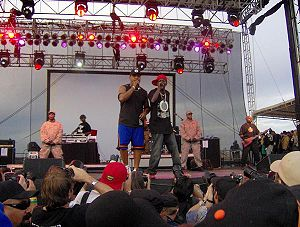 Public Enemy performing at Vegoose music festi...