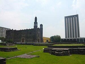 Plaza de las Tres Culturas in Tlatelolco, Mexi...