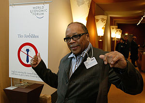 DAVOS/SWITZERLAND, 21JAN04 - Quincy Jones, Cha...