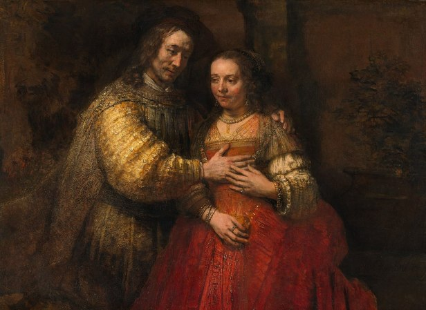 Rembrandt Harmensz. van Rijn - Portret van een paar als oudtestamentische figuren, genaamd 'Het Joodse bruidje' - Google Art Project