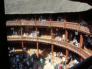 English: Shakespeare's Globe Theatre A beautif...