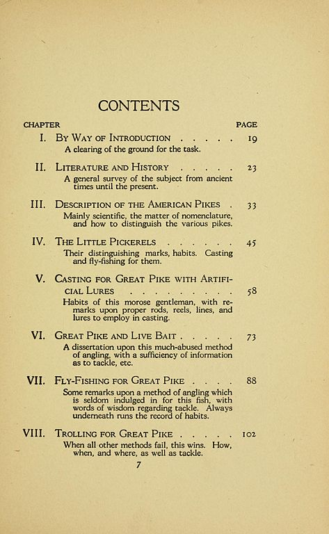 File The Book Of The Pike Page 7 Table Of Contents P 7
