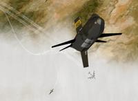 CG render of X-15 66672 ascending