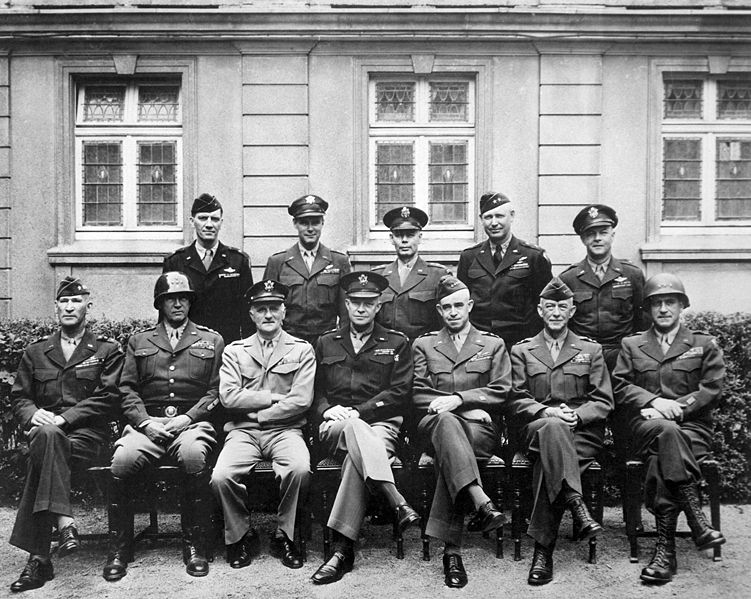 File:American World War II senior military officials, 1945.JPEG