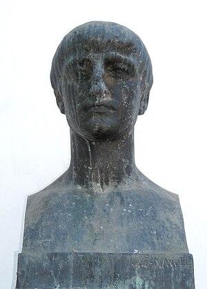 English: Bust of the Roman poet Lucan, Córdoba...