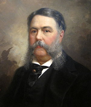 English: A portrait of Chester A. Arthur locat...