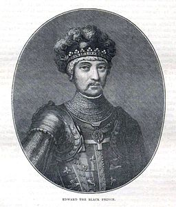 Edward the Black Prince - Illustration from Cassell's History of England - Century Edition - published circa 1902
