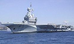 Portaaviones nuclear francés.
