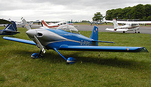 Vans RV4 light aircraft (G-PIPS). Photographed...