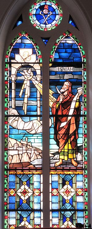 Isaiah stained glass window at St. Matthew's L...